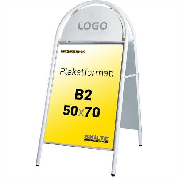 Image of   Expo Gotik Gadeskilt Hvid - Poster: 50 x 70 cm