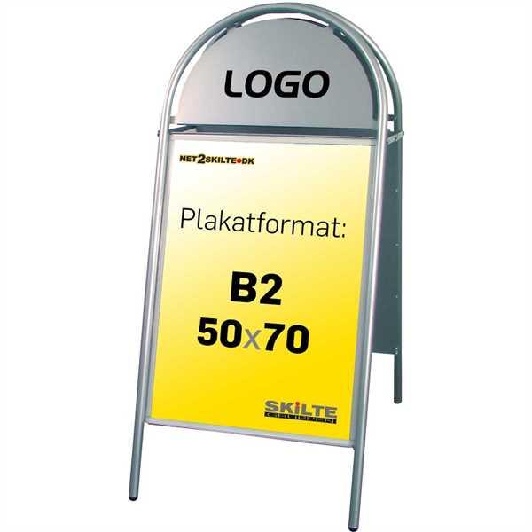 Expo Gotik gadeskilt Sølv - Poster: 50 x 70 cm