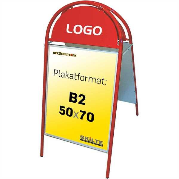 Image of   Expo Gotik Gadeskilt Rød - Poster: 50 x 70 cm