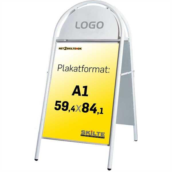 Expo Gotik gadeskilt Hvid - Poster: A1 - 59,4 x 84,1 cm