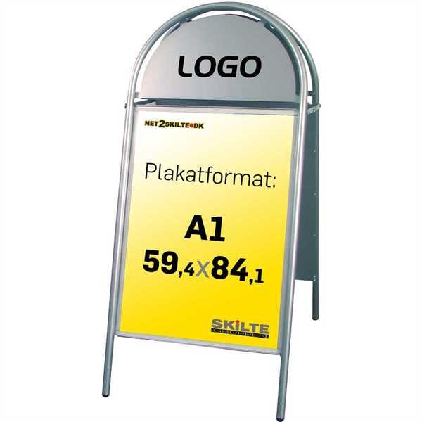 Image of   Expo Gotik gadeskilt Sølv - Poster: A1 - 59,4 x 84,1 cm