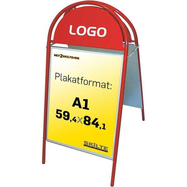 Image of   Expo Gotik gadeskilt Rød - Poster: A1 - 59,4 x 84,1 cm