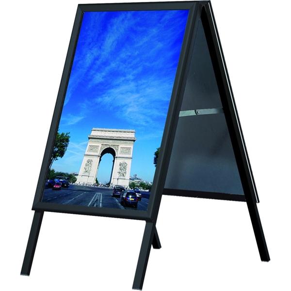 Image of   Alu-Line Standard gadeskilt Sort 50 X 70 cm