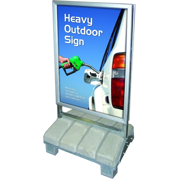Heavy Outdoor Sign - Beton  - Poster: 70 X 100 cm