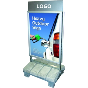 Logotop til Heavy Outdoor Sign  - Logotop: 103 x 23 cm
