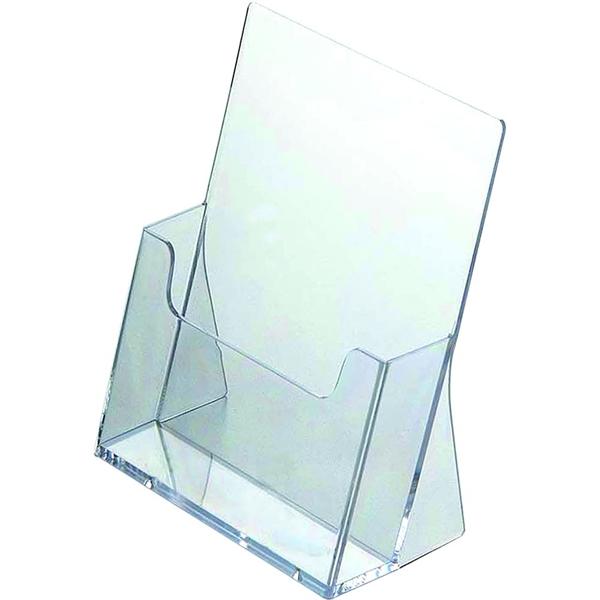 Image of   Akryl bord brochureholder - Klar - A4 - 21x30cm