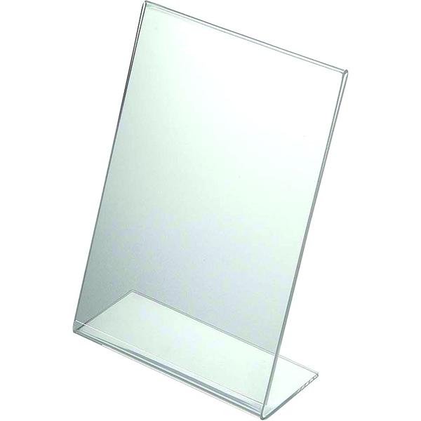 Image of   Menuholder Vertikal L-form - Akryl Klar - A3 - 29,7 x 42,0 cm