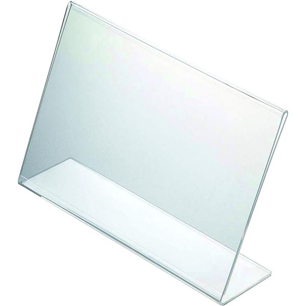 Image of   Menuholder L-form Horisontal - akryl Klar - A6 - 10,5x14,8cm