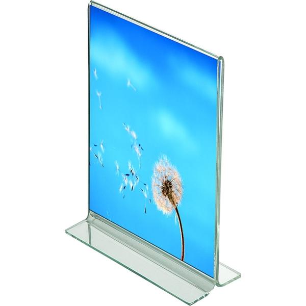 Image of   Menuholder T-form Vertikal - akryl - Klar - A3