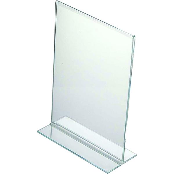 Image of   Menuholder T-form Vertikal -akryl Klar - A5 - 14,8x21cm