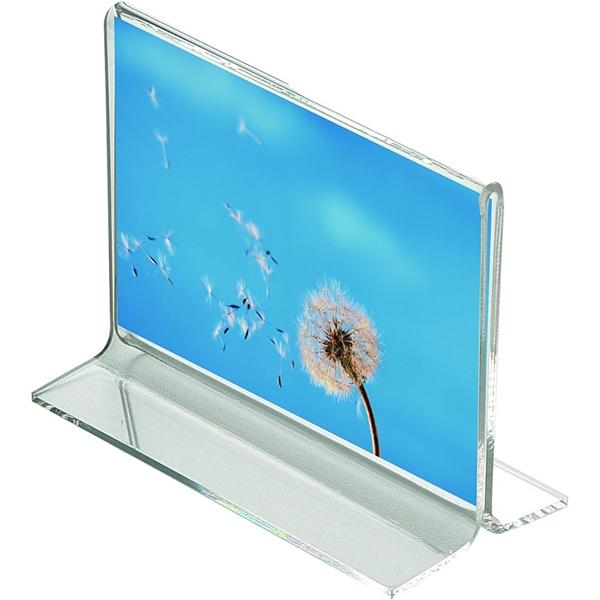 Billede af Menuholder -T form Horisontal - klar akryl A8 7,6 x 5,4 cm