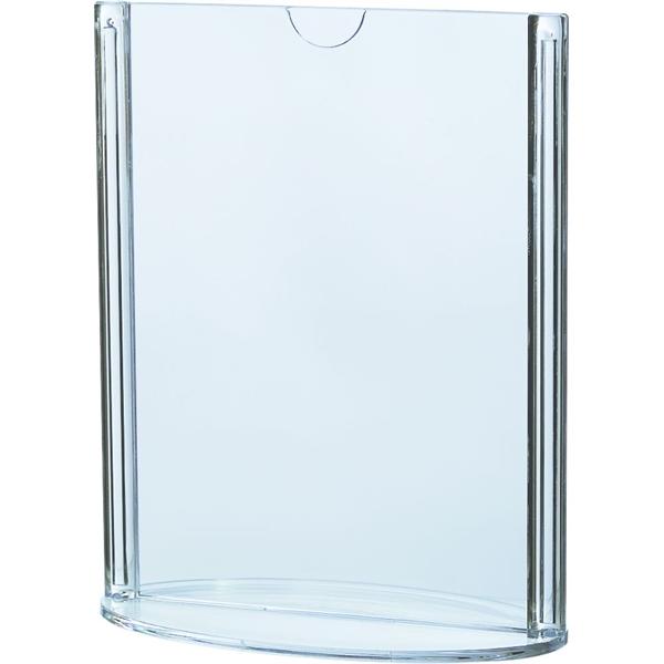 Image of   Oval dobbeltsidet menuholder - Klar - 10,5 x 14,8 cm A6