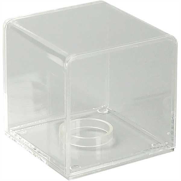 Firkantet boks - klar akryl