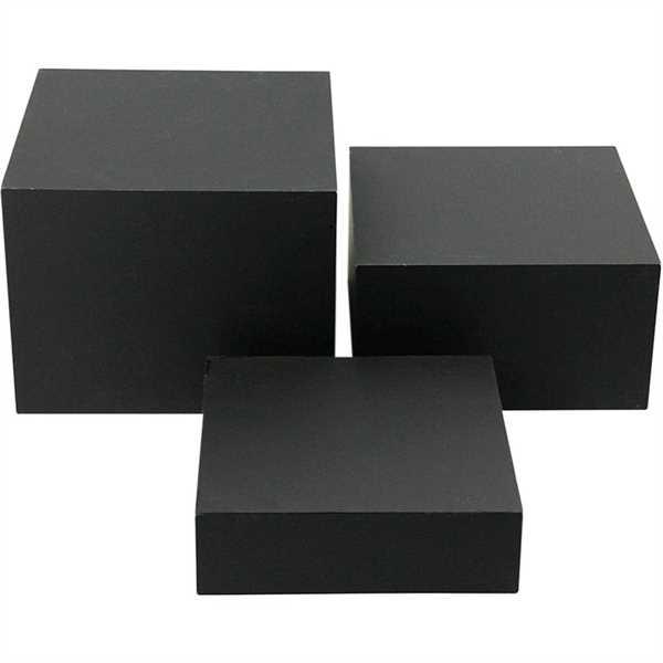 Nesting bokse/æsker - 3 stk. indskudshylde - sort - 3 størrelser