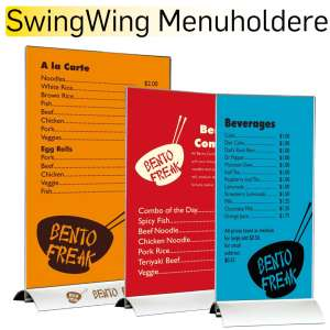 SwingWing Menuholdere
