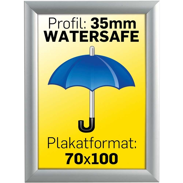 Alu Snap-Frame Watersafe, væg, 35 mm Alu  - Poster: 70 x 100 cm