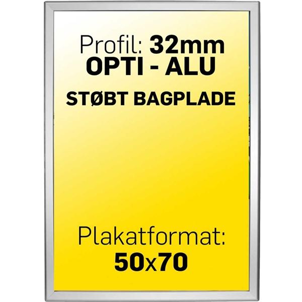 Alu klapramme 32 mm profil Opti Frame Sølv 50 X70 cm