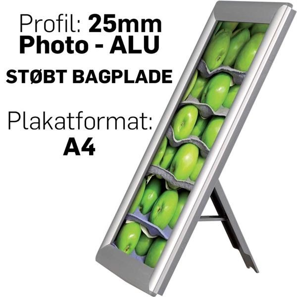 Photo Snap-frame, 25 mm med bagstøtte Alu - Poster: A4 - 21 x 29,7 cm