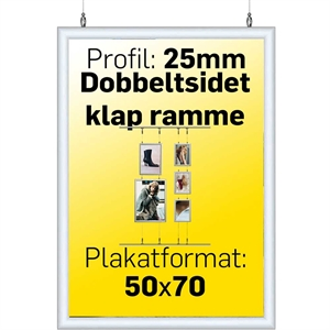 Double Side Snap-Frame Alu/Klar - 50 x 70 cm