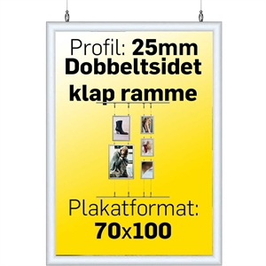 Double Side Snap-Frame Alu/Klar - 70 x 100 cm