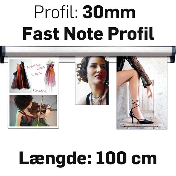 Billede af Fast Note Profile Alu  - 100 cm