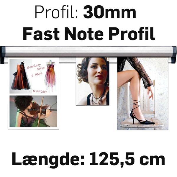 Fast Note Profile Alu  - 125,5 cm