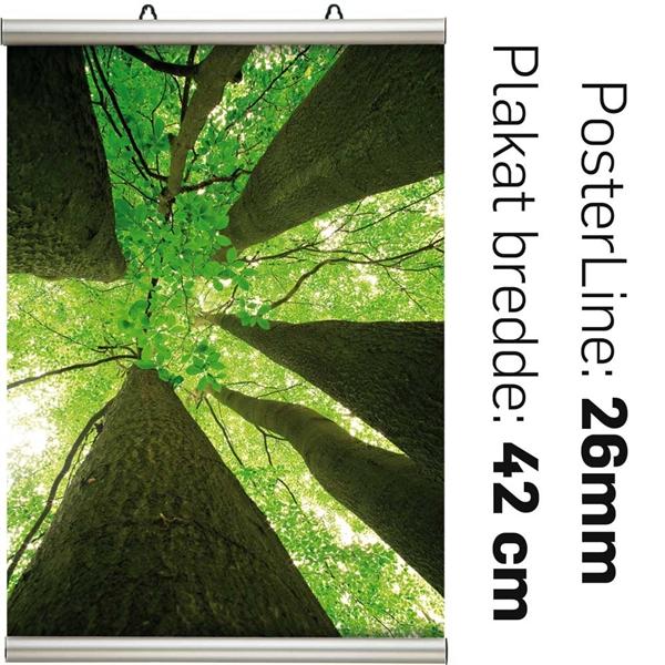POSTER-LINE SÆT 25mm Alu/elox. - A2 - 420 mm