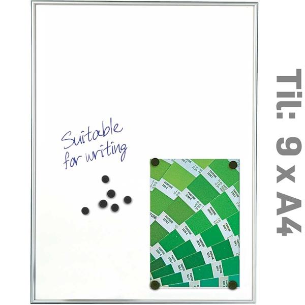 White Board Magnetic Hvid - 9xA4