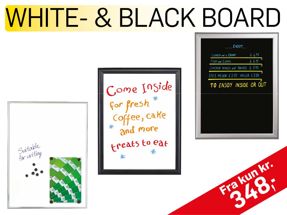 Whitebord og Blackboards