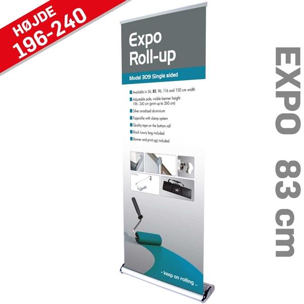 Roll-Up Expo Enkeltsidet Alu/elox. - 83 x 216-260 cm banner