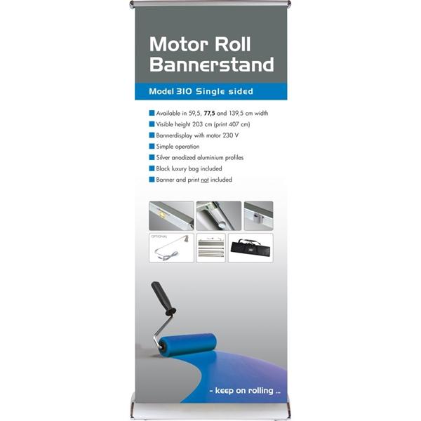 Motor roll Bannerstand