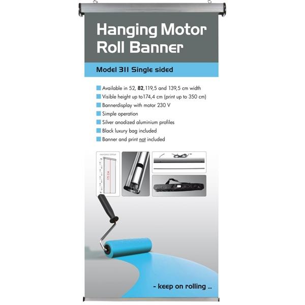 Motor Roll Banner Loftsophæng