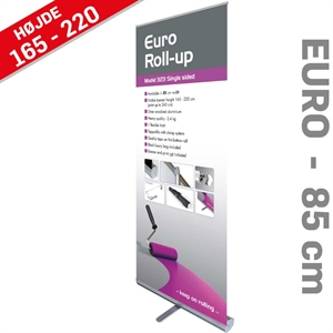 Euro Roll-Up - Ekstra god kvalitet - - 85 x 220 cm banner