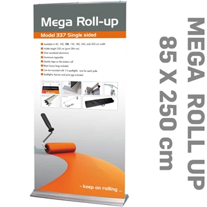 MEGA ROLL-UP Alu  - 84,5 cm x 284 cm Mega Roll-Up