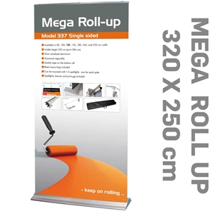 MEGA ROLL-UP Model 309 Alu  - 317 cm x 284 cm Mega Roll-Up