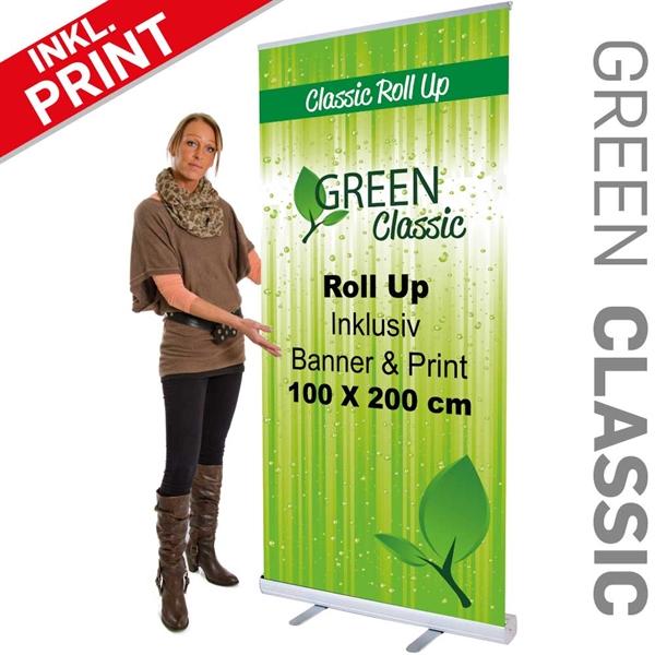 Business STD Roll-Up med banner og print - 100 x 200 cm
