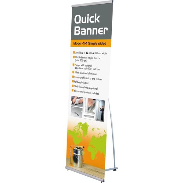 QUICK L-BANNER 60 x 200 enkeltsidet Alu/elox. - 60x200 cm Banner