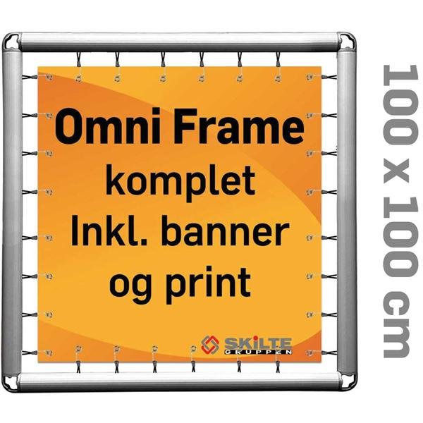 Omni Frame Banner -  Komplet MED PRINT 100 x 100 cm