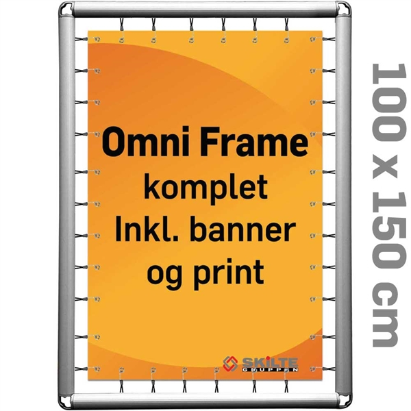 Omni Frame Banner -  Komplet MED PRINT 100 x 150 cm