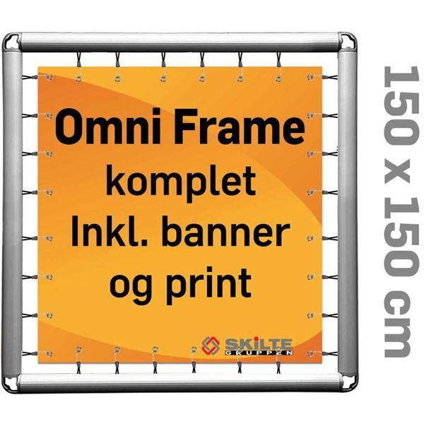 Omni Frame Banner -  Komplet MED PRINT 150 x 150 cm