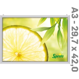 LED Slim-Light Lux Double-sided Alu  - 29,7 x 42 cm A3