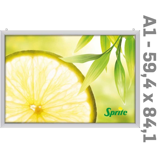 LED Slim-Light Lux Double-sided Alu  - 59,4 x 84,1 cm A1