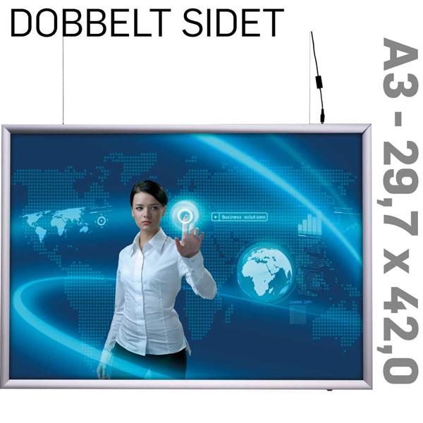 Dobb sider LED Lightbox 25mm