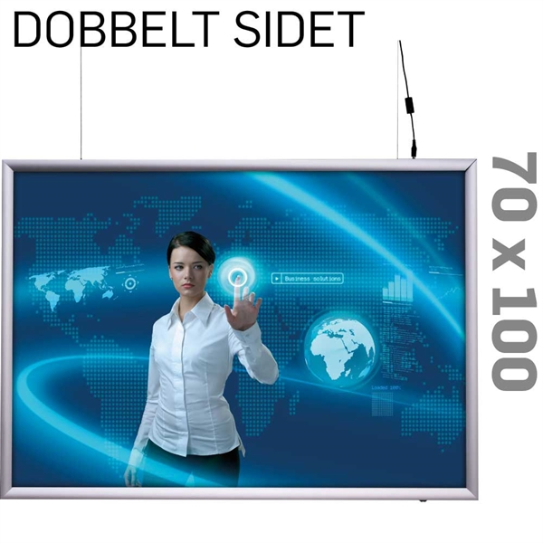 Dobb sider LED Lightbox 25mm