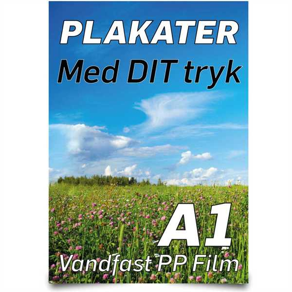 Image of A1 Plakater 59,4 X 84,1 cm - PET Film