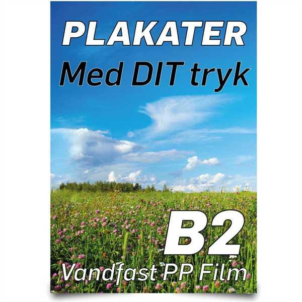 B2 Plakater 50 X 70 cm - PETFilm