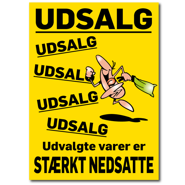 Image of   A1 Udsalgs Plakater - Vandfast PET Film #1