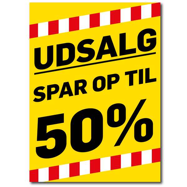 Image of   A0 Udsalgs Plakater - Vandfast PET Film #2