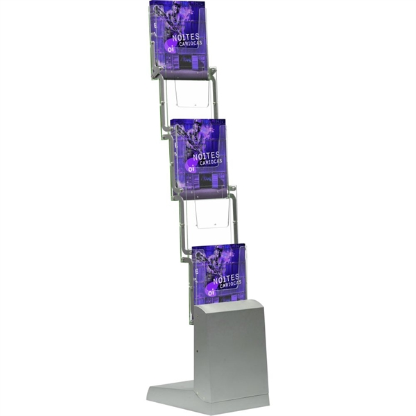 Image of   FOLD-UP BROCHURE STAND - Alu/akryl - 5 x A4 (5 x 21 x 29,7 cm)
