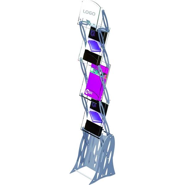 Image of   MOBILE FLEX BROCHURESTANDER Alu+akryl - 3xA4 (21x30cm)